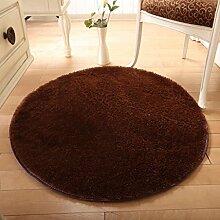 PRIDE S Solid Color Round Wohnzimmer Türmatten Schlafzimmer Teppich Matratze Matten Matten (Farbe : D, größe : 160cm)