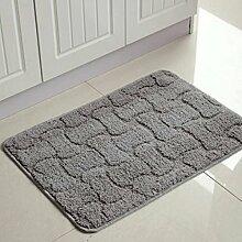 PRIDE S Tahara Küche Mats Badezimmer-Matten-nicht - Rutschmatten Absorbent Bodenmatte Matratze Nacht die Tür zu schieben (farbe : Gray Bones, größe : 45*180cm)