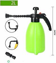 PRIDE S Wanxiang Kopf Haus Gartenarbeit Bewässerung Spray Hochdruck Wasser Flasche Druck Bewässerung Spray Flasche Druck Sprinkler ( farbe : Grün , größe : 2l )