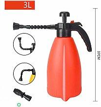 PRIDE S Wanxiang Kopf Haus Gartenarbeit Bewässerung Spray Hochdruck Wasser Flasche Druck Bewässerung Spray Flasche Druck Sprinkler (farbe : Rot, größe : 3l)