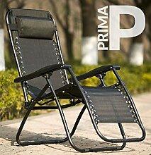 Prima   leicht, Aluminium Camping & Garten Stuhl, schwarz
