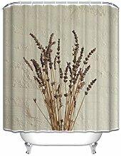 """Prime Leader Custom Dusche Vorhänge Pflanzen Blume wasserdicht Polyester Stoff Vorhang für die Dusche, Polyester, TK-EN-0148, 48""""(w) x 72""""(h)"""