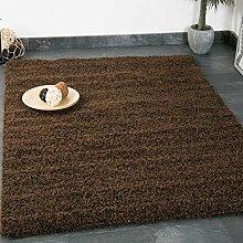 Prime Shaggy Teppich Farbe Braun Hochflor Langflor Teppiche Modern für Wohnzimmer Schlafzimmer - VIMODA, Maße:70x250 cm