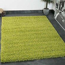Prime Shaggy Teppich Grün Hochflor Langflor Teppiche Modern für Wohnzimmer Schlafzimmer Einfarbig - VIMODA, Maße:230x320 cm