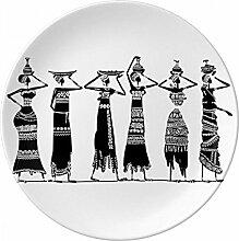 Primitiv Afrika Kleider Aboriginal schwarz Totems
