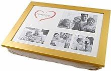 PrimoLiving Knietablett mit Kissen und Fotorahmen