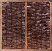Primrose Flechtzaun aus Weidenmatte mit Rahmen 1.8 m