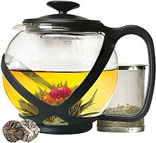 Primula Tempo Teekanne aus Glas mit 2 Blütentees,