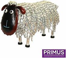 Primus® Quirky Metall handbemalt Schaf Ornament