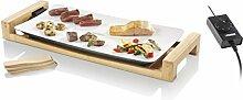 Princess 01.103030.01.403 Teppanyaki Grill -  Tischgrill/ Raclette auf Bambusrahmen mit 6 Holzspatel