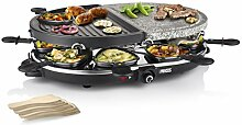 Princess 01.162710.01.001 Raclette 8 Oval Stone und Grill Party