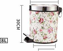 Princess Home Runde Mülleimer und Haushalt, Küche Wohnzimmer mit Den toiletten im mülleimer-S-30x25x23cm(12x10x9)