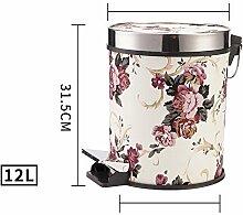 Princess Home Runde Mülleimer und Haushalt, Küche Wohnzimmer mit Den toiletten im mülleimer-H-31.5x25x23.5cm(12x10x9)