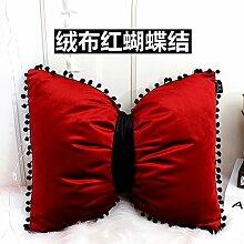 Princess Zimmer Kissen Stern/Liebe/Schmetterling Knoten Rückenkissen Flanell Bett niedlich Kissen, 30x45cm, ein