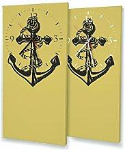 Printalio - Anker - Moderne Wanduhr mit Fotodruck
