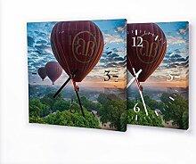 Printalio - Ballons - Lautlose Wanduhr mit