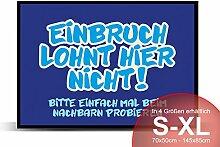Printalio - Einbruch zwecklos - Schmutzmatte