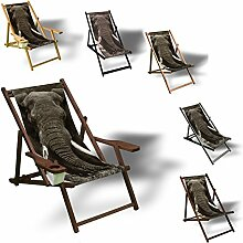 Printalio - Elefant - Liegestuhl Bedruckt Balkon