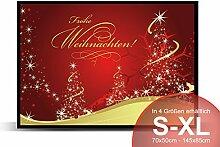 Printalio - Frohe Weihnachten Rot Gold -