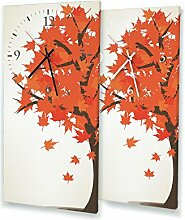 Printalio - Herbstlaub - Moderne Wanduhr mit
