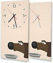 Printalio Hunde - Moderne Wanduhr mit Fotodruck
