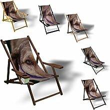 Printalio - Hundeblick - Liegestuhl Bedruckt