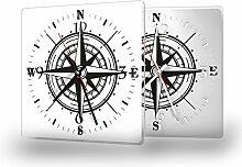 Printalio - Kompass - Lautlose Wanduhr mit