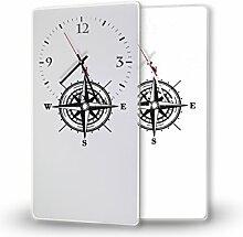 Printalio Kompass - Moderne Wanduhr mit Fotodruck
