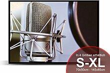 Printalio - Mikrofon - Schmutzmatte Bodenvorleger