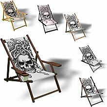 Printalio - Skull - Liegestuhl Bedruckt Balkon