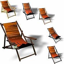 Printalio - Sonneuntergang - Liegestuhl Bedruckt