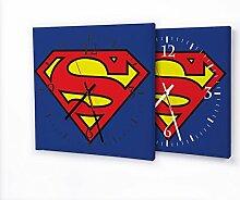 Printalio Superman - Moderne Wanduhr mit Fotodruck