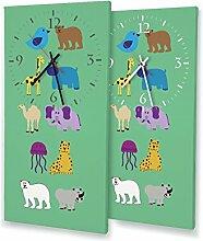 Printalio Tierwelt - Moderne Wanduhr mit Fotodruck