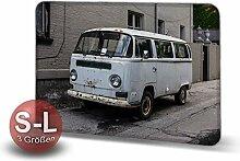 Printalio Vintage Van - Schmutzmatte Bodenvorleger