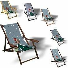 Printalio - Vögel auf Weihnachtsbaum - Liegestuhl