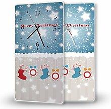 Printalio - Weihnachtssocken - Lautlose Wanduhr