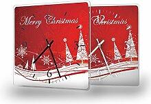 Printalio Weihnachtswald - Moderne Wanduhr mit