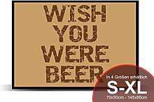 Printalio - Wish You were Beer - Schmutzmatte