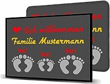 Printalio - Wunschtext - 3 Füsse - Schmutzmatte