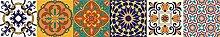 Printodecor Set Aufkleber Wandaufkleber 15x15 Orange und Grün