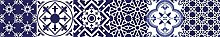 printodecor Set Aufkleber Wandaufkleber 20x20 Blau / Weiß