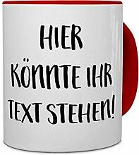 PrintPlanet® - Tasse mit eigenem Text bedrucken lassen - Kaffeebecher mit Wunschtext oder Spruch personalisieren - Becher Ro