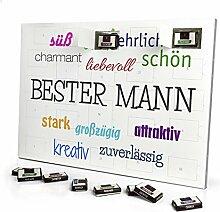 printplanet - Adventskalender mit Name Bester Mann