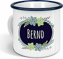 printplanet - Emaille-Tasse mit Namen Bernd -
