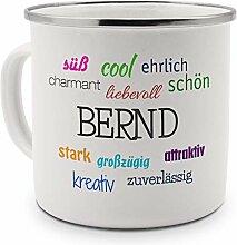 printplanet Emaille-Tasse mit Namen Bernd -