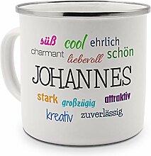 printplanet Emaille-Tasse mit Namen Johannes -