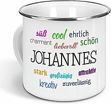 printplanet - Emaille-Tasse mit Namen Johannes -