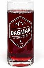 PrintPlanet® Glas mit Namen Dagmar graviert -