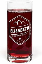 PrintPlanet® Glas mit Namen Elisabeth graviert -