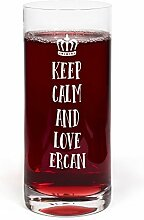PrintPlanet® Glas mit Namen Ercan graviert -